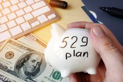 529 plan College Savings Plan concept. 529 plan concept. College Savings Plan and money Stock Photo