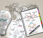 Plan concept Royalty Free Stock Photos