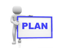 Plan concept.Isolated on white background Stock Photography