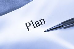 Plan conception Stock Photo