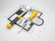 Plan of construction Royalty Free Stock Image