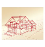 Plan a country house Stock Photo