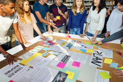 Plan Creative Class Library Student Teacher Ideas Concept royalty free stock photo