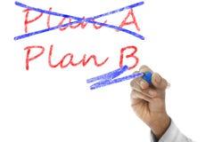 Plan A crossed, Plan B take over Royalty Free Stock Photos