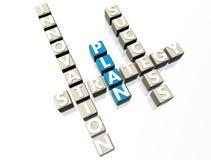 Plan Crossword Stock Photo