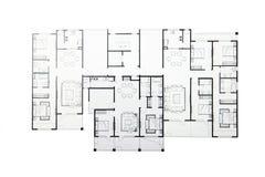 Plan d'étage Image libre de droits