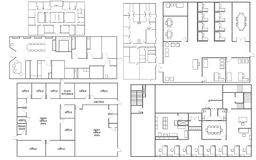 Plan d'étage de bureau Image libre de droits