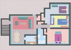 Plan d'étage de Chambre Photo stock