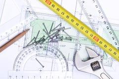 Plan d'étage de ci-avant photographie stock libre de droits