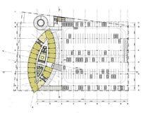 Plan d'étage de construction Photographie stock