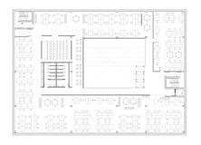 Plan d'étage de l'immeuble de bureaux Image libre de droits