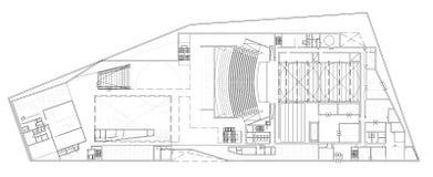 Plan d'étage de l'opéra Images libres de droits