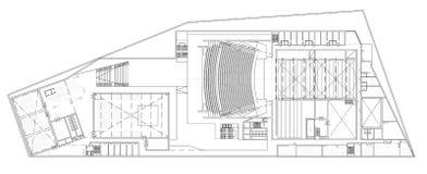 Plan d'étage de l'opéra Photo libre de droits