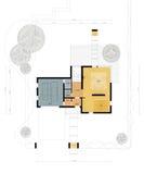 Plan d'étage de la maison vivante illustration stock