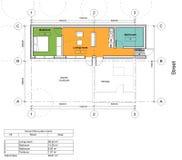Plan d'étage de la maison vivante Image libre de droits