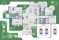 Plan d'étage de vecteur d'une maison illustration de vecteur