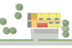Plan d'étage du petit hôtel Photos libres de droits