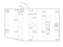 Plan d'étage du stationnement souterrain Image libre de droits