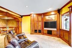 Plan d'étage ouvert Salon relié à la salle à manger Image libre de droits
