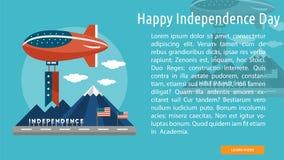 Plan d'étude de Jour de la Déclaration d'Indépendance heureux Images stock