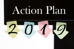 Plan d'action 2019 image stock