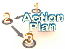 Plan d'action illustration stock