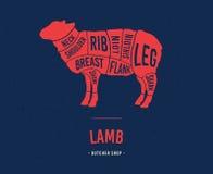 Plan d'agneau Coupes de viande