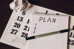Plan d'année civile pour des articles Photo stock