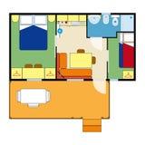 Plan d'appartement Images libres de droits