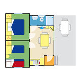 Plan d'appartement Image stock
