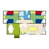 Plan d'appartement Photographie stock libre de droits