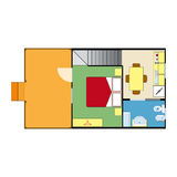 Plan d'appartement Images stock