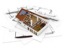 Plan d'architecture Photos stock