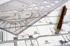 Plan d'architecture Photo stock
