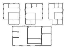 Plan d'architecture dans la vue supérieure Photographie stock libre de droits