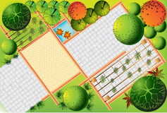 Plan d'horizontal Images stock