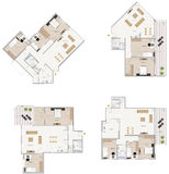 Plan d'étage Photos libres de droits