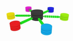 Plan d'une base de données Image libre de droits