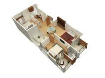 plan 3D d'une résidence Image stock