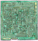 Plan de câblage de carte PCB Photos libres de droits