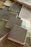 Plan de concepción interior verde y marrón Fotos de archivo