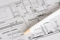 Plan de construction Photo libre de droits