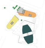 Plan de construction de rez-de-chaussée Photos stock