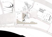 Plan de construction de rez-de-chaussée Photographie stock