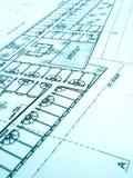 Plan de construction, immeuble de bureaux Image stock