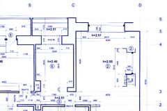 Plan de construction, machinant des modèles, une partie d'architectural photos stock