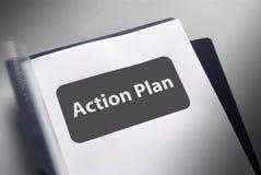 Plan de el documento de acción Fotos de archivo