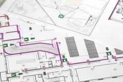 Plan de evacuación Imagen de archivo libre de regalías