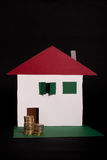 Plan de Finacial pour les immeubles Image libre de droits