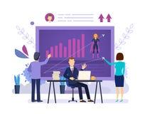 Plan de formation au commandement Analyse des qualifications et des accomplissements, formations d'affaires illustration stock
